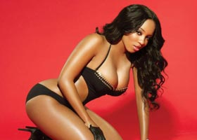 Sheneka Adams  in Blackmen Magazine