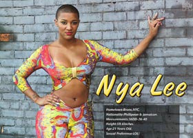 Nya Lee @realnyalee in Straight Stuntin Magazine