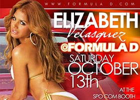 Come Meet Elizabeth Velasquez @LizVelasquez at Formula Drift Oct 13th in Irwindale CA