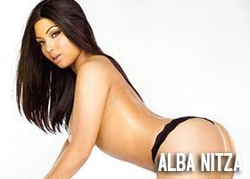 Alba Nitza @AlbaNitza88 in Black Lingerie – Magazine Scans