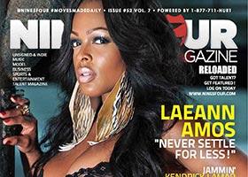 Laeann Amos @MsLaeannAmos on the cover of Nine Four Magazine