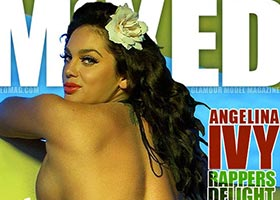 Angelina Ivy @angelinaivy on cover of Mixed Magazine
