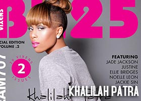 Khalilah Patra @khalilahpatra on cover of BX25 Magazine