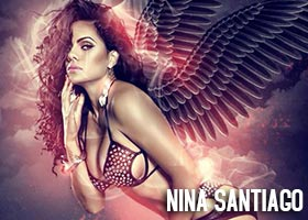 Nina Santiago @NinaUnrated – Fan The Flames – New Graphics from Goonrilla World