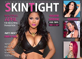 Beautifull April @beautifullapril on the cover of Skin Tight Magazine – TL Glam Studio