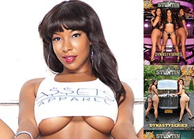 Khrysti Hill @KhrystiHill in DynastySeries Issue of Straight Stuntin