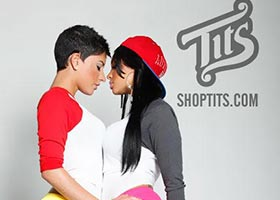 Brittany Duet @msBrittany Duet and Dede Damati @Dede_ontheBeach: T.I.T.S Brand Outtakes