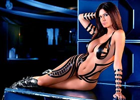 Eriana Blanco @ERIANABLANCO – Black Tape Blue Lights