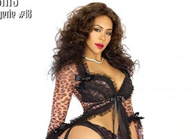 Deelishis @IamDEELISHIS in Black Lingerie