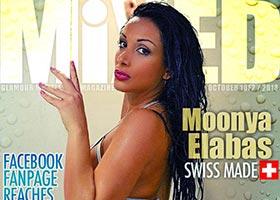 Moonya Elabas @manoomoon on the cover of Mixed Magazine