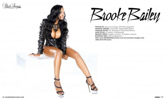 Brooke Bailey @brookebailey in Black Lingerie 21 – SHOW Magazine