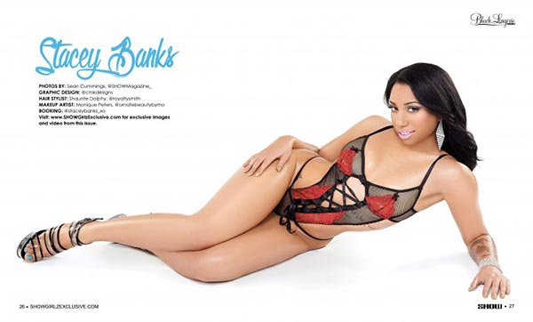 Stacey Banks @staceybanks_xo in Black Lingerie #23 – SHOW Magazine