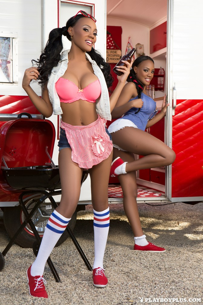 Brittany and Brandi Kelly in Double Trouble – Playboy