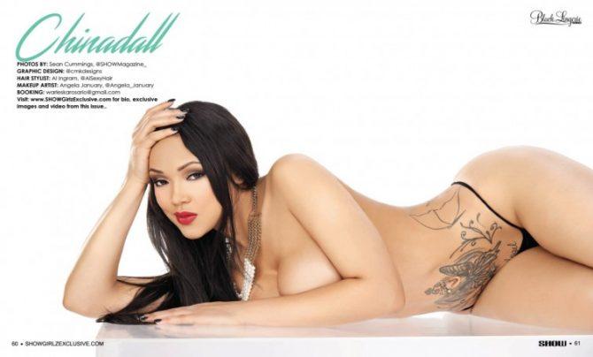 Warleska Rosario in SHOW Magazine Black Lingerie