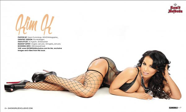 Kim K in SHOW Magazine Black Lingerie