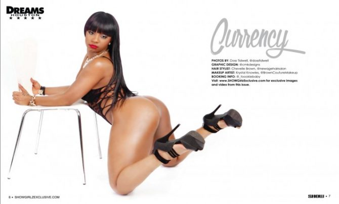 Currency in SHOW Magazine Black Lingerie