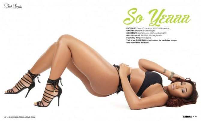 So Yeaaa in SHOW Magazine Black Lingerie