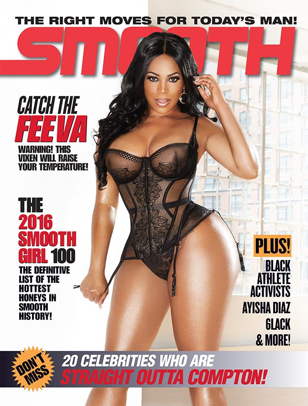 Feeva D and Blac Chyna on the cover of Smooth Magazine #70
