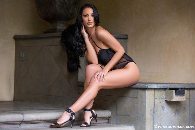 Kendra Cantara in Front Door Strip – Playboy
