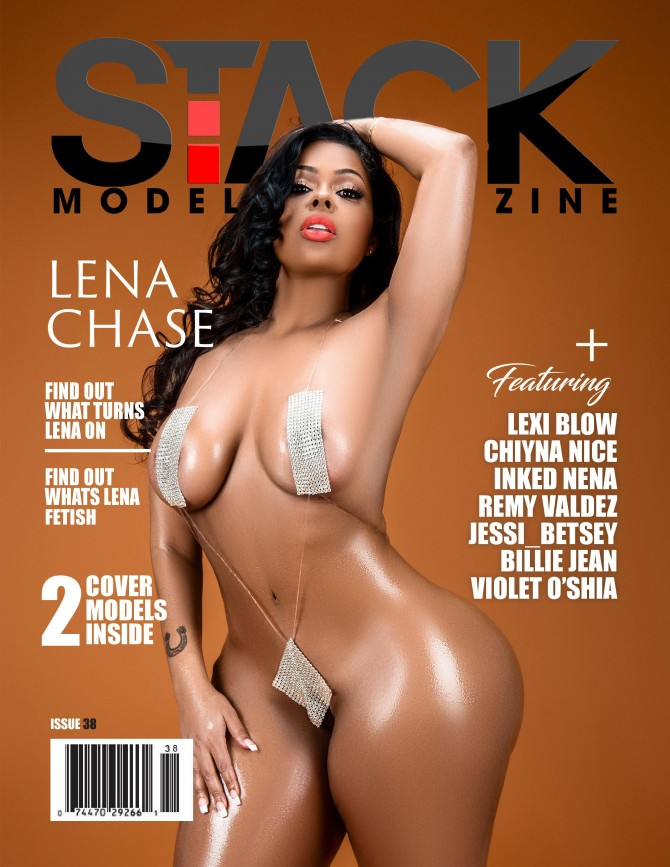 Lena Chase on cover of Stack Models Magazine #38