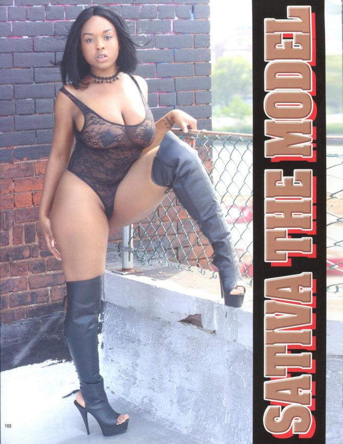 Sativa the Model in Straight Stuntin Magazine #47