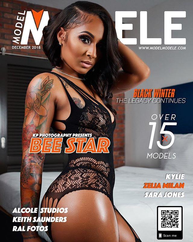 Model Bee Star @modelbeestarr1 on cover of Model Modele – KP Photography